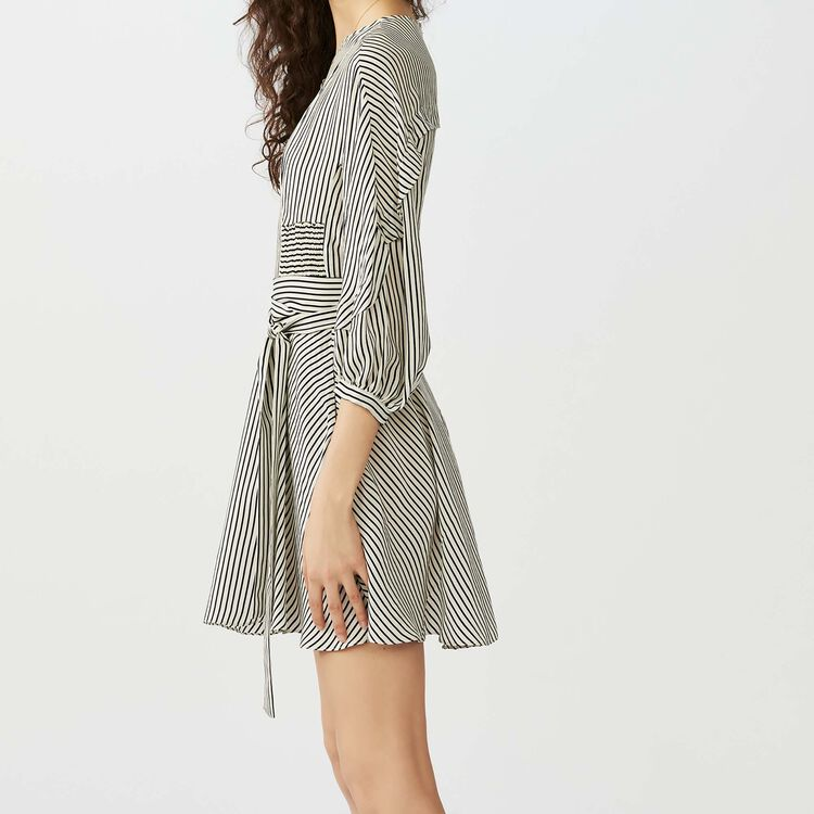 Striped dress with smocked waist : Vestiti colore A Righe
