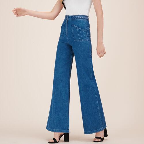 Jeans ampio con dettaglio intrecciato : Pantaloni & jeans colore Denim