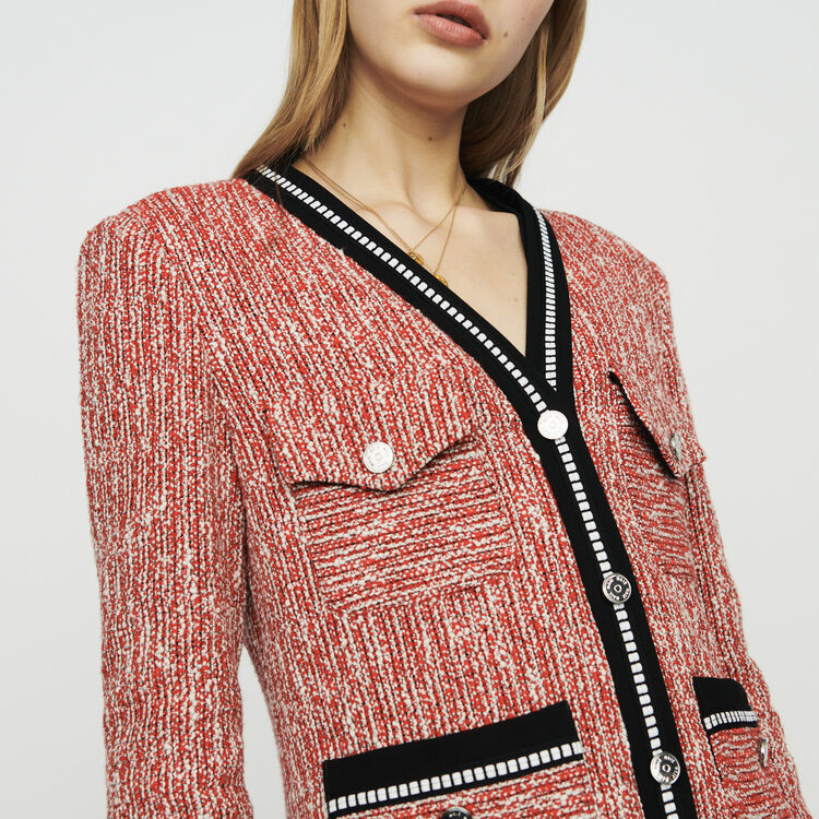 Giacca stile tweed : Giacche colore Rosso