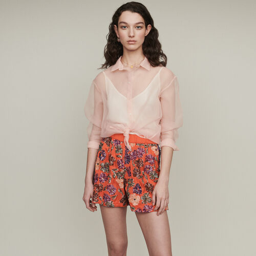 Short ricamati di paillettes : Gonne e shorts colore Corallo
