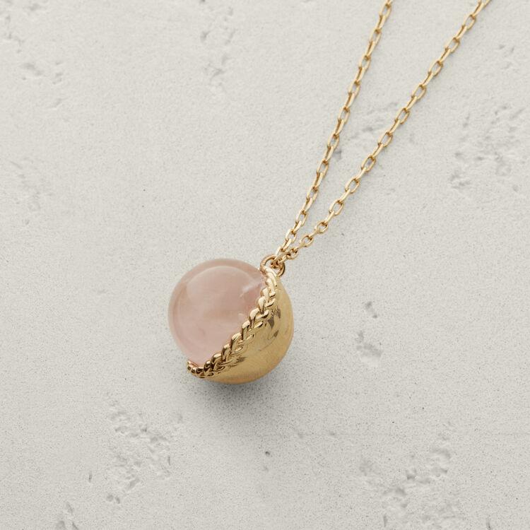 Collana con sfera in : Gioelli colore Rosa Tenue