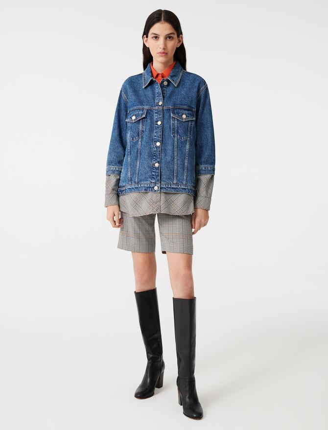 Giubbotto di jeans trompe-l'œil - Cappotti e Giubbotti - MAJE