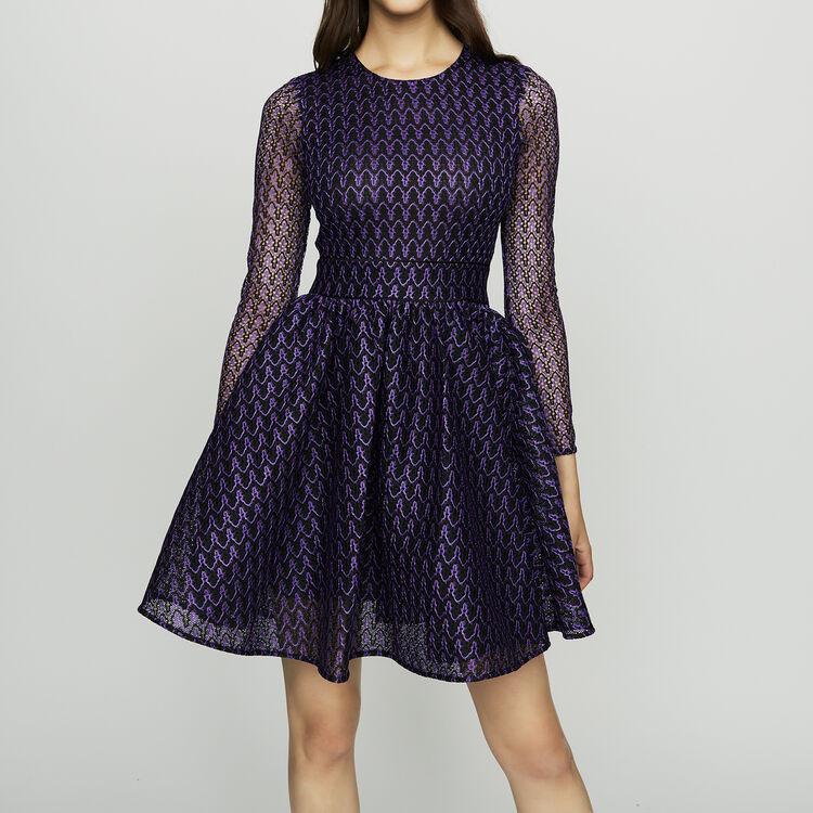 Vestito pattinatrice in tessuto tecnico : Vestiti colore Violetto