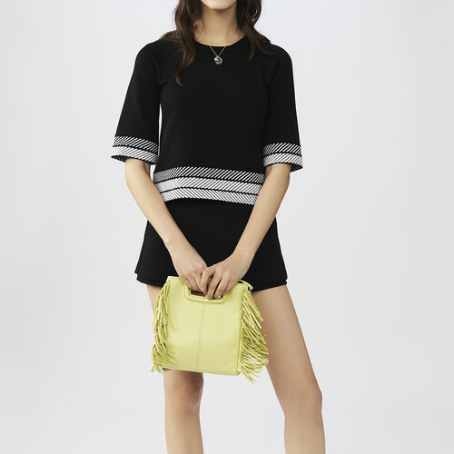Maglia larga con maniche corte : Pullover e cardigan colore Nero