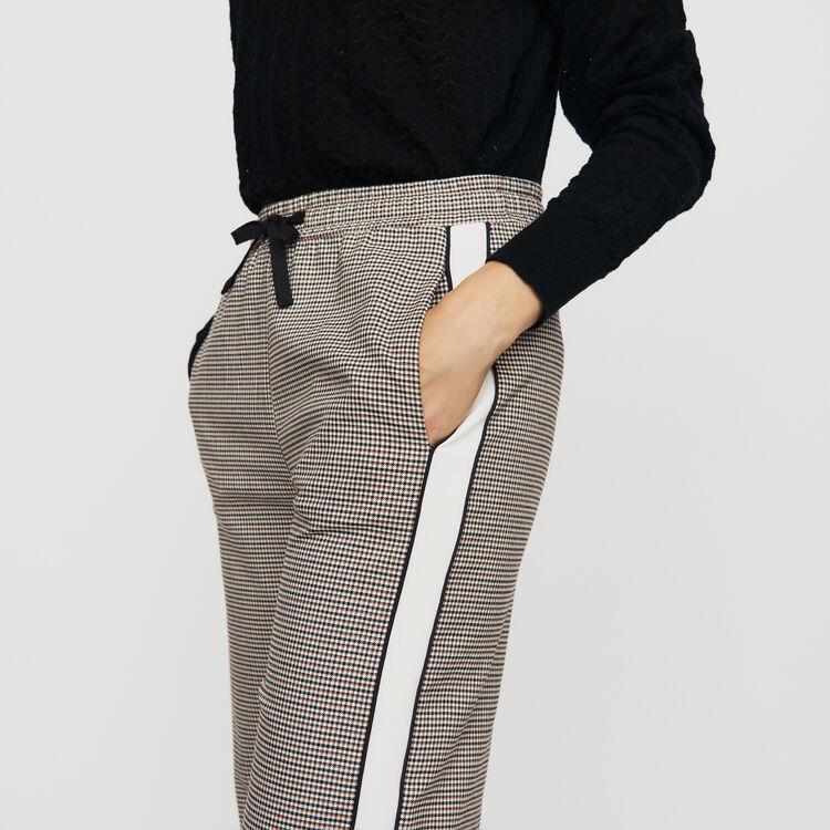 Pantalone elasticizzato a quadri : Pantaloni colore CARREAUX