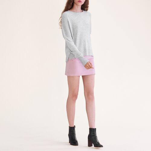 Pullover in cashmere : Maglieria colore Grigio Chiné