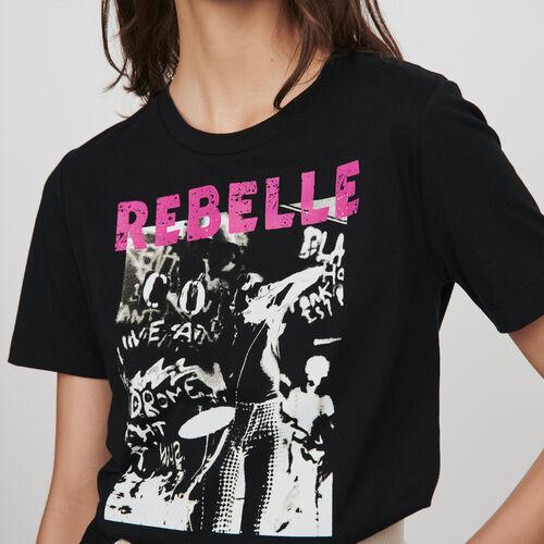 Tee-shirt serigrafata : Collezione Inverno colore Nero