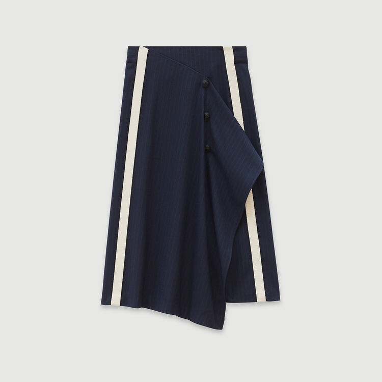 Gonna a righe tennis : Gonne e shorts colore Blu Marino