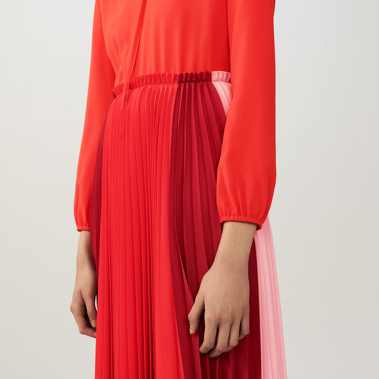Vestito-chemisè plissettato multicolore : Vestiti colore Multicolore