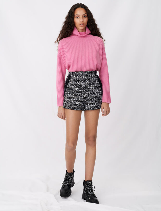 Short stile tweed con galloni contrasto - Gonne e shorts - MAJE