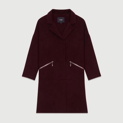 Cappotto in lana double face : Cappotti colore Bordeaux