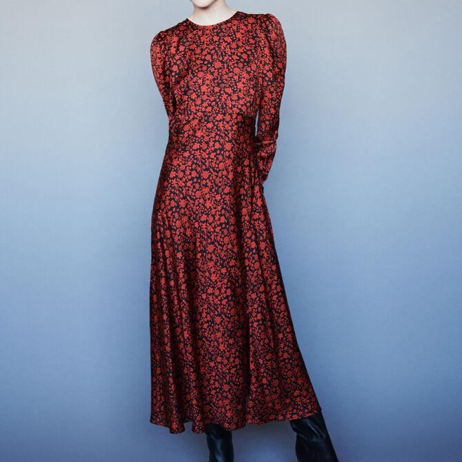Printed-satin dress - Vedi tutto - MAJE