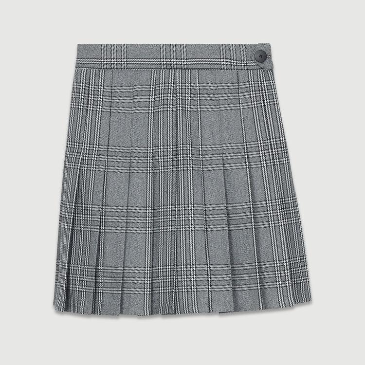 Pantaloncini trompe-l'œil plissettati : Gonne e shorts colore CARREAUX
