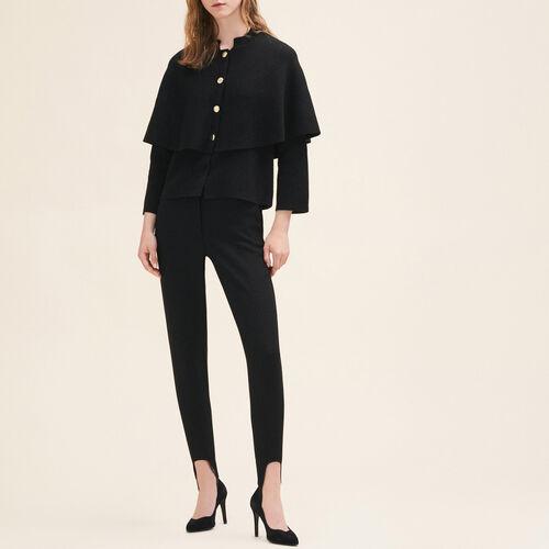 Cardigan stile mantella corto : Pullover e cardigan colore Nero
