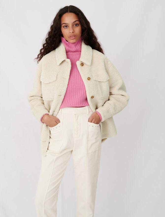 Giubbotto écru stile giacca - Giacche - MAJE