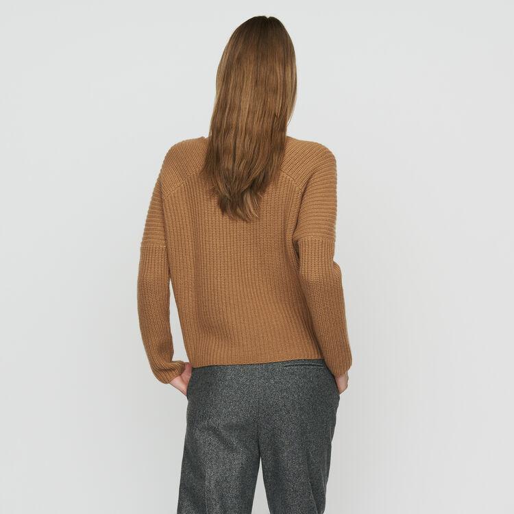 Pull oversize in cachemire : Maglieria colore Cammello