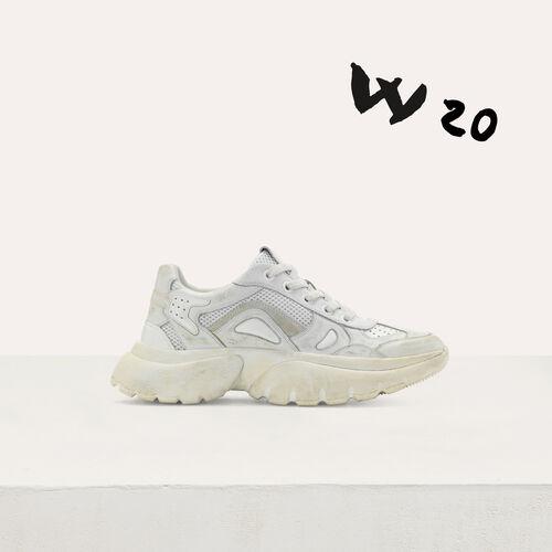 Sneakers W20 urbane in pelle : Sneakers colore Bianco