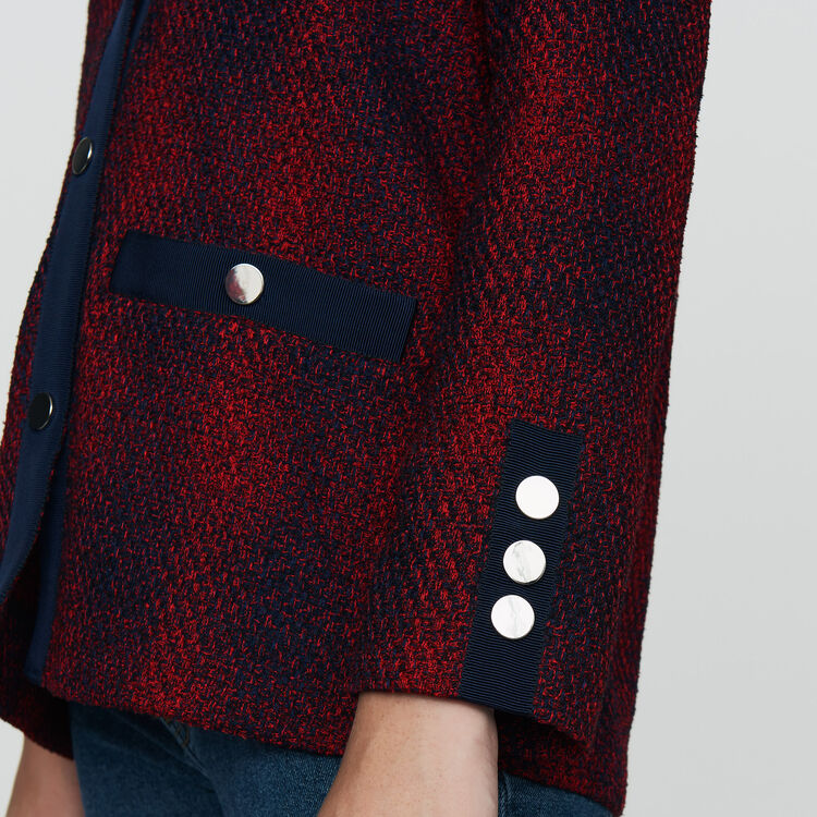 Giacca in maglia stile tweed : Giacche colore CARREAUX