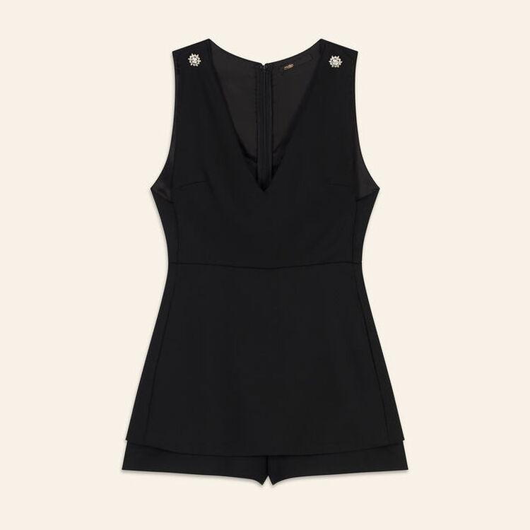 Tuta corta effetto trompe-l'oeil : Gonne e shorts colore Nero