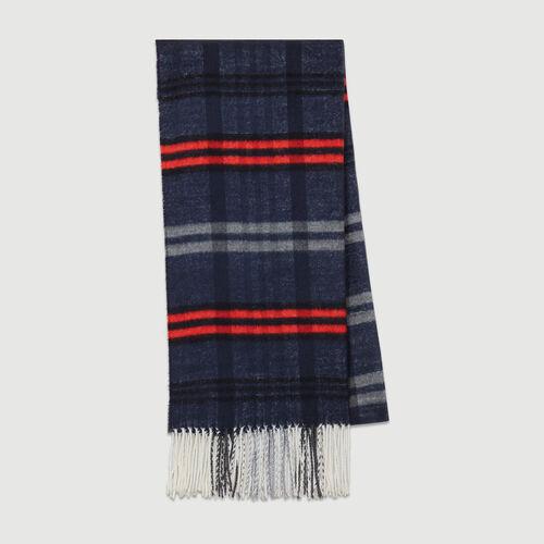 Sciarpa a quadri in maglia : Scialli & Poncho colore Bordeaux