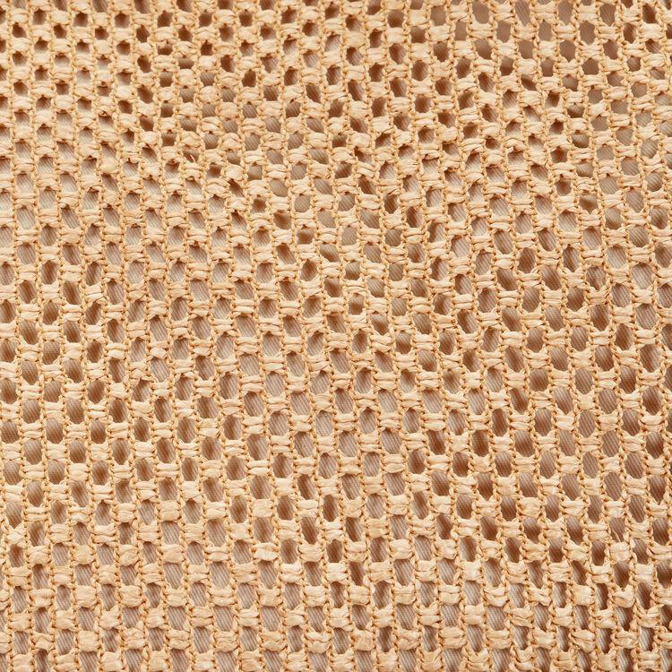 Borsa cabas in pelle e raffia : Vedi tutto colore NATURELS