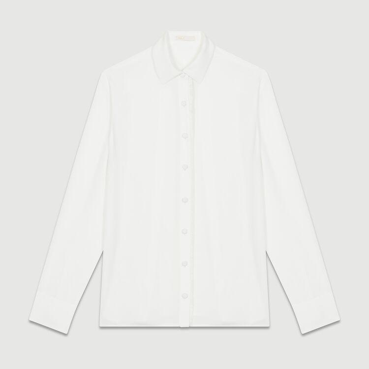 Camicia fluida a maniche lunghe : Camicie colore Ecru