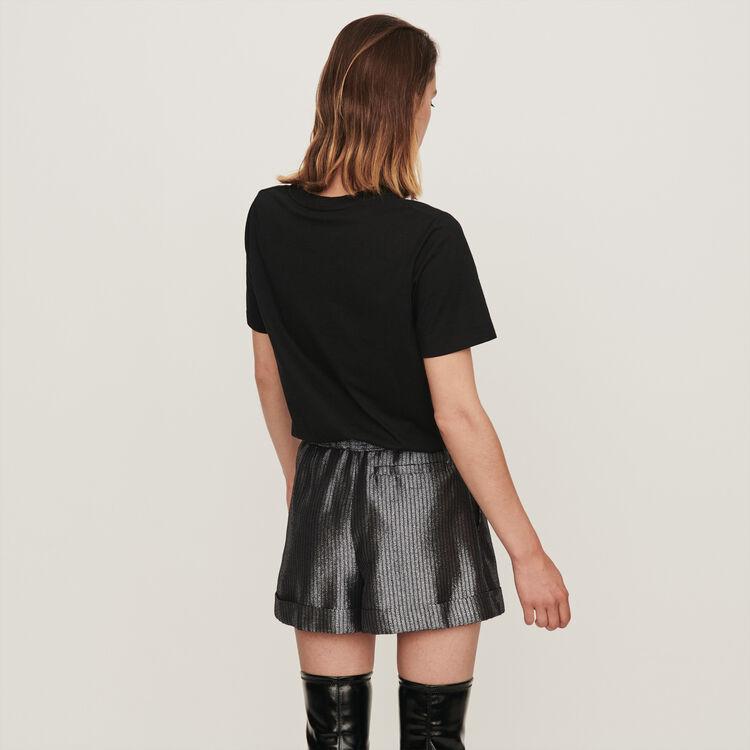 Short en Lurex con revers : Gonne e shorts colore Argento