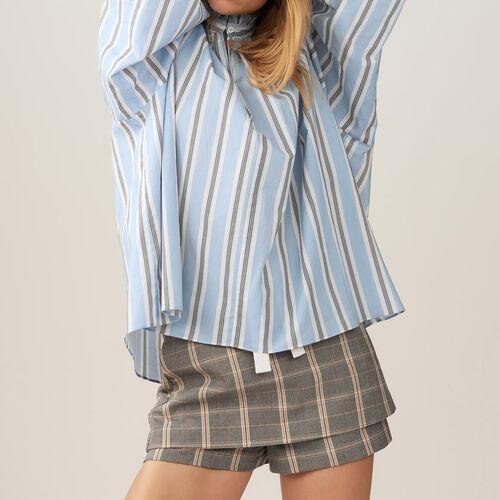 Blusa oversize con volant a righe. : Tops colore IMPRIME