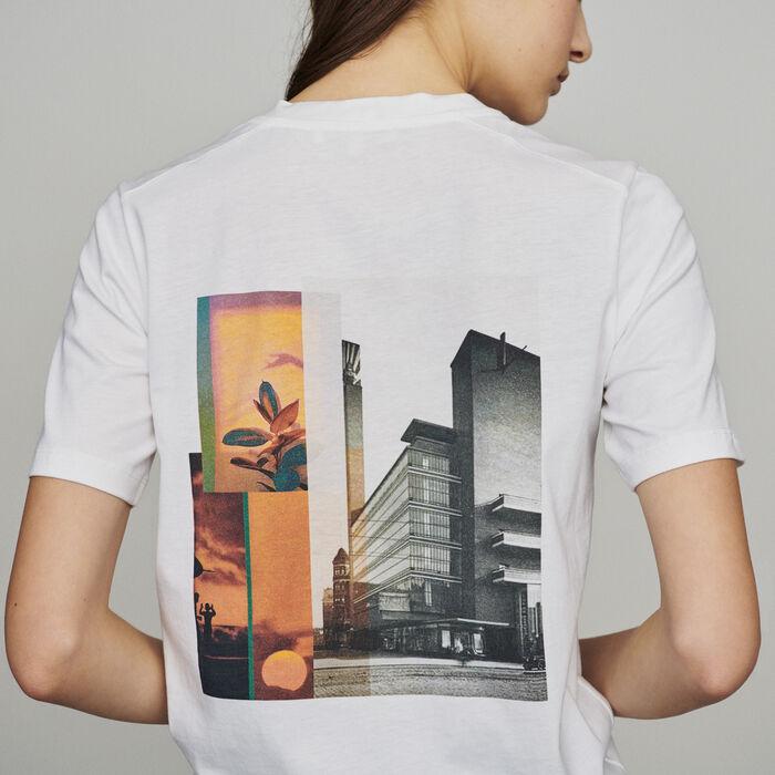 Tee-shirt con messaggio : T-Shirts colore Bianco