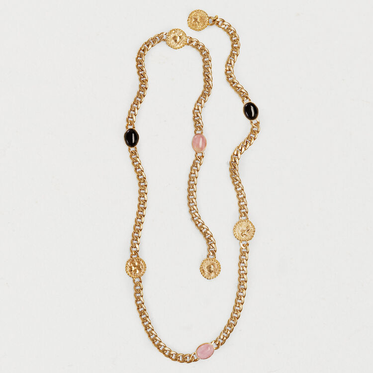 Chain belt with stones and medallions : Cinture colore OR