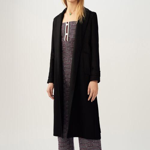 Trench con cintura rimovibile : Cappotti colore Nero