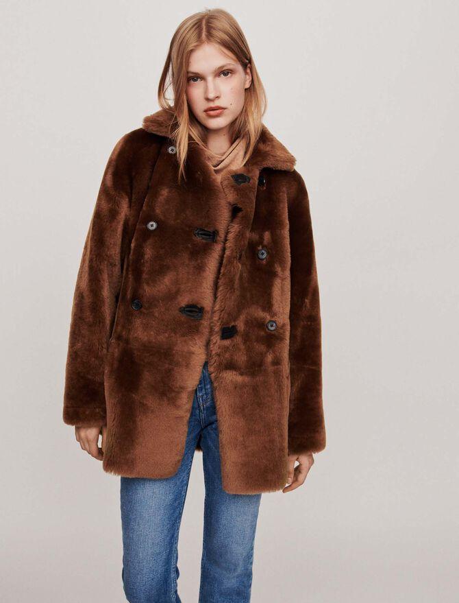 Canadian-style reversible shearling - Coats & Jackets - MAJE