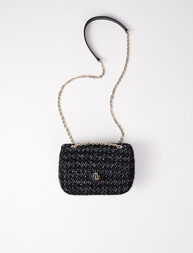 Borsa con patta in tweed contrastante - Tutte le borse - MAJE