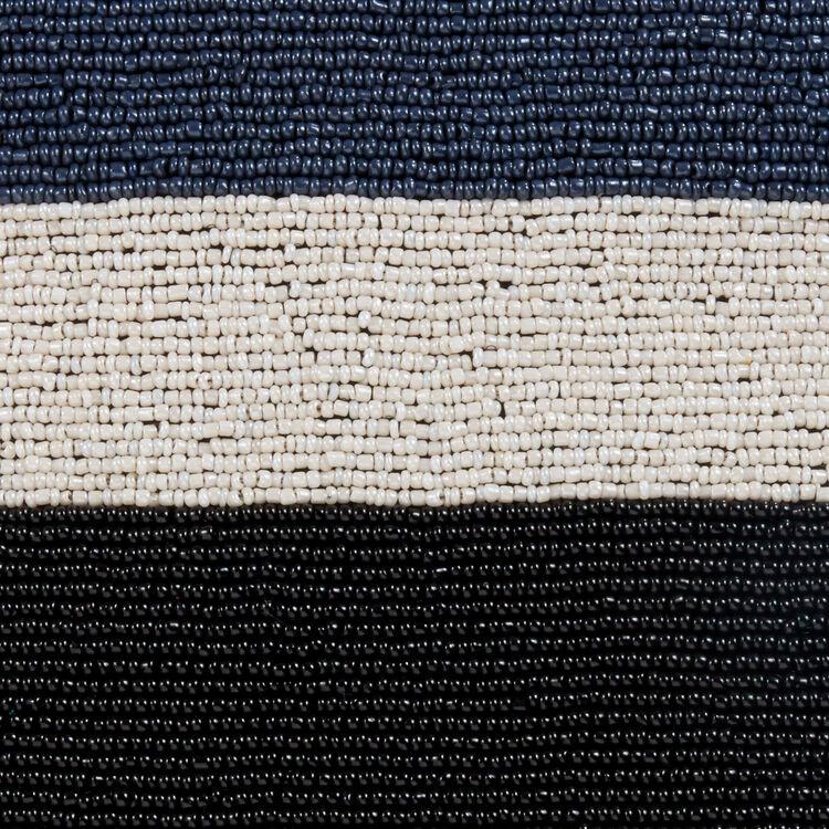 Borsa M in pelle d'agnello con perle : Borse M colore Blu Marino