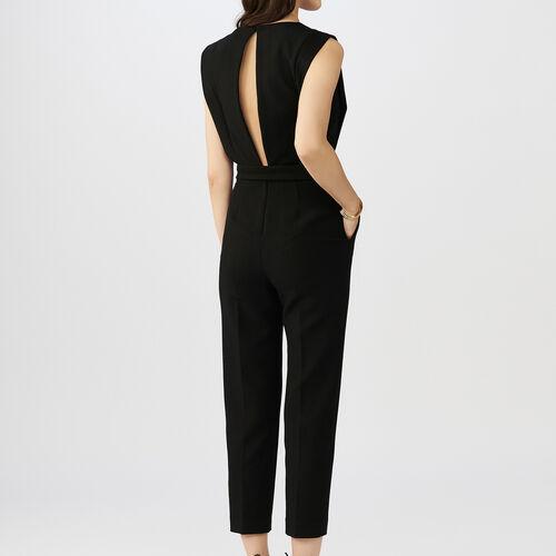 Tuta corta senza maniche : Pantaloni & jeans colore Nero