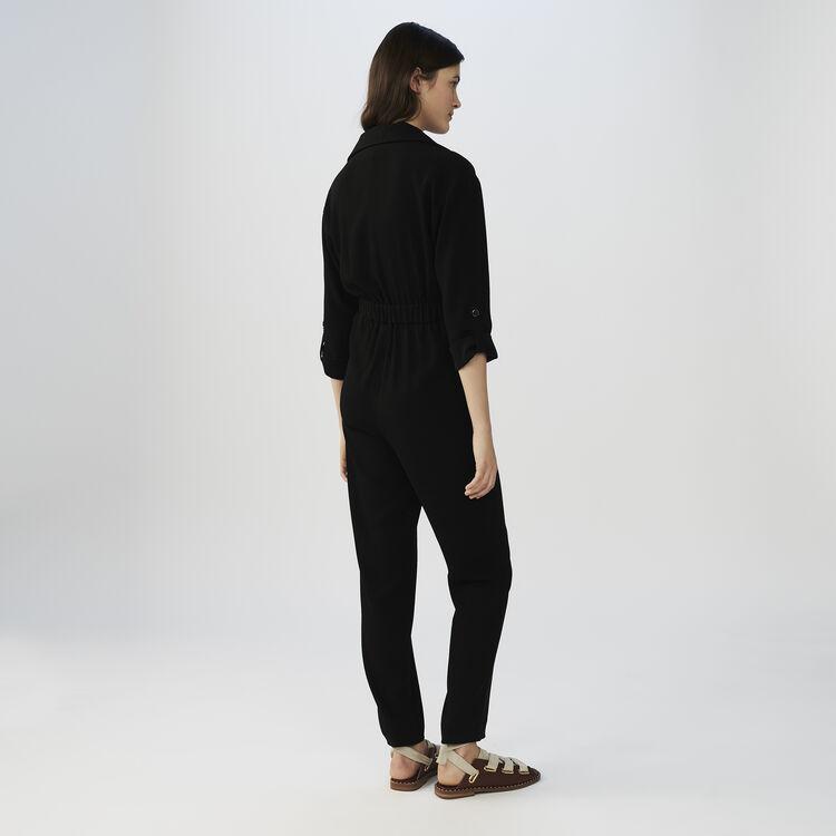 Tuta in crepe : Pantaloni e Jeans colore Nero