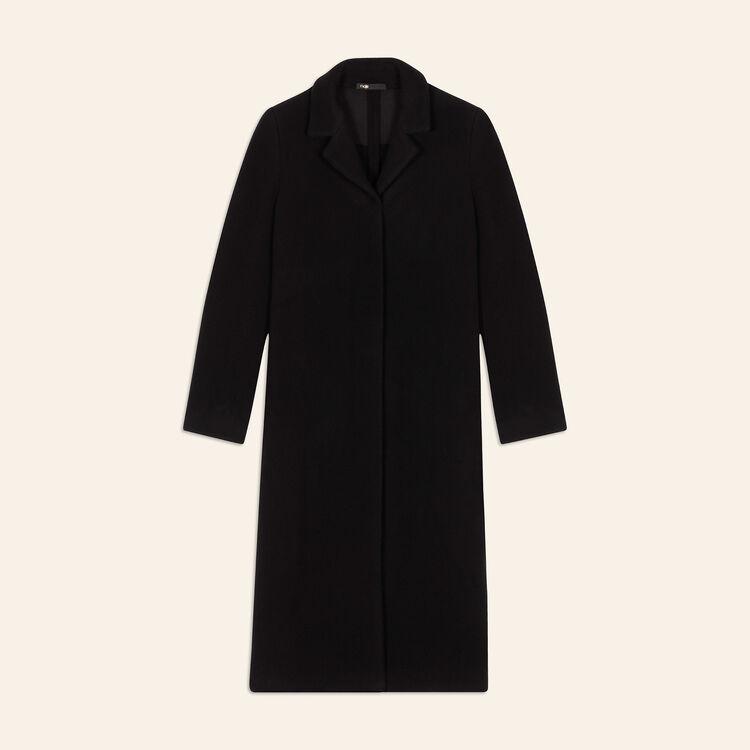 Cappotto lungo in misto lana : Cappotti colore Antracite