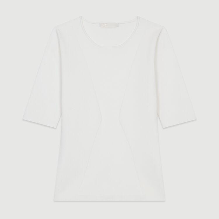 Maglia fine a maniche corte : Nuova Collezione colore Bianco
