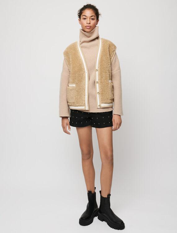 Cardigan senza maniche stile pelliccia - Pullover e cardigan - MAJE