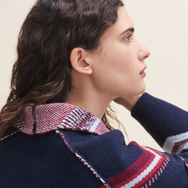 Cardigan in jacquard : Pullover e cardigan colore Blu Marino