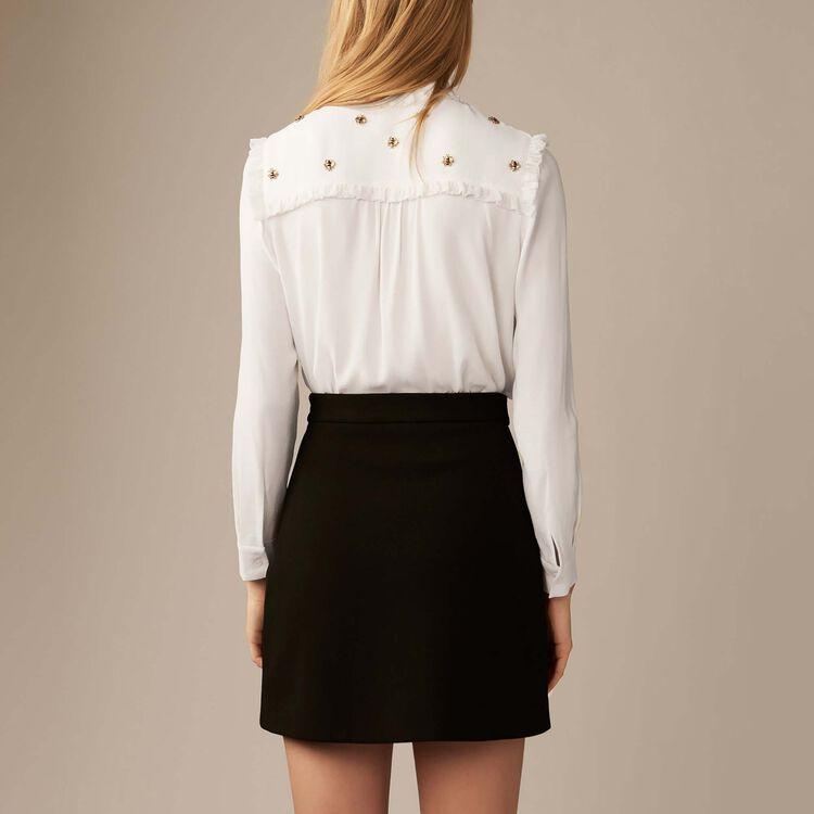 Camicia con api ricamate : Camicie colore Bianco