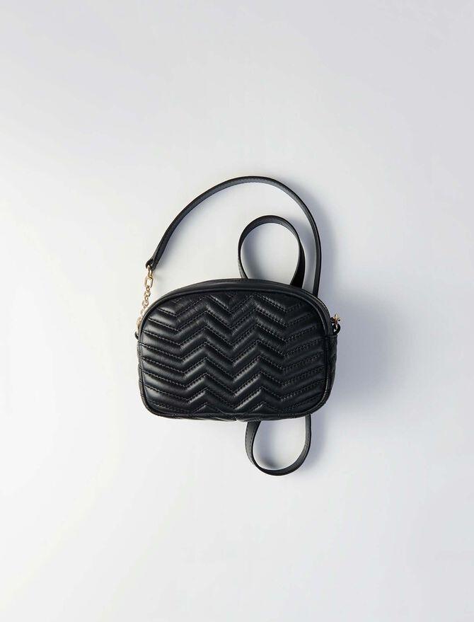 Quilted leather GM shoulder bag - Sami bag - MAJE