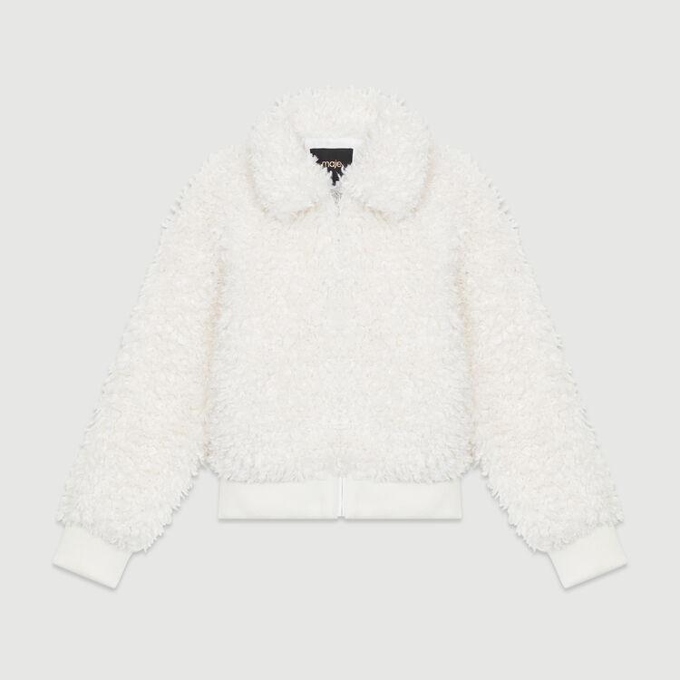 Giubbotto corto in finta pelliccia : Cappotti colore Bianco