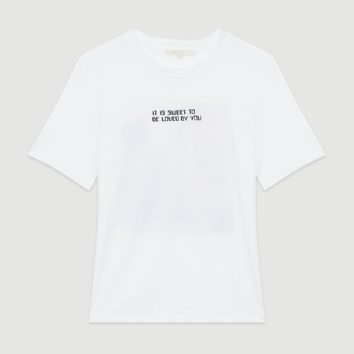 Tee-shirt con messaggio : T-Shirts colore Bianco