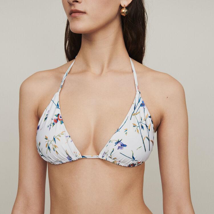Costume da bagno stampato a triangolo : Beachwear colore IMPRIME