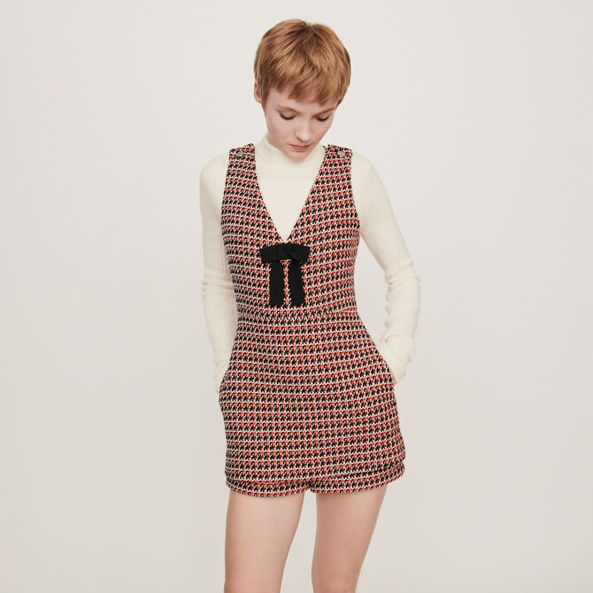 Tweed-style playsuit - staff private sale 20 - MAJE