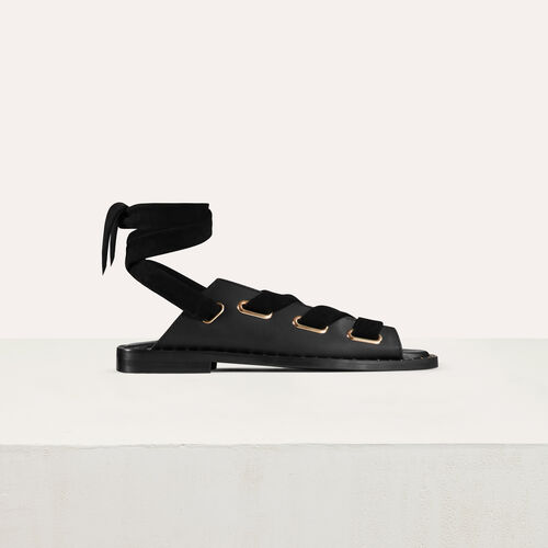 Sandali bassi in pelle : Scape basse colore Nero