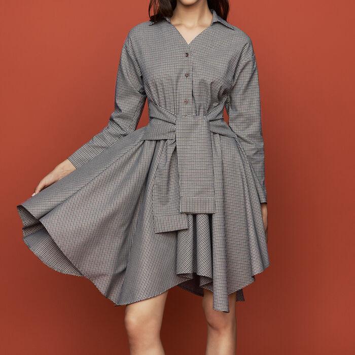 Scamiciato con stampa pied-de-coq : Vestiti colore CARREAUX