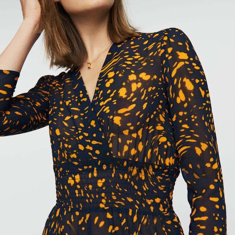 Vestito asimmetrico con stampa : Vestiti colore IMPRIME