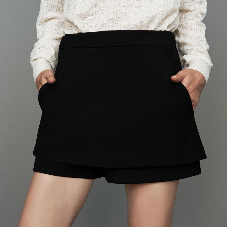 Panta-gonna in crepe : Gonne e shorts colore Nero